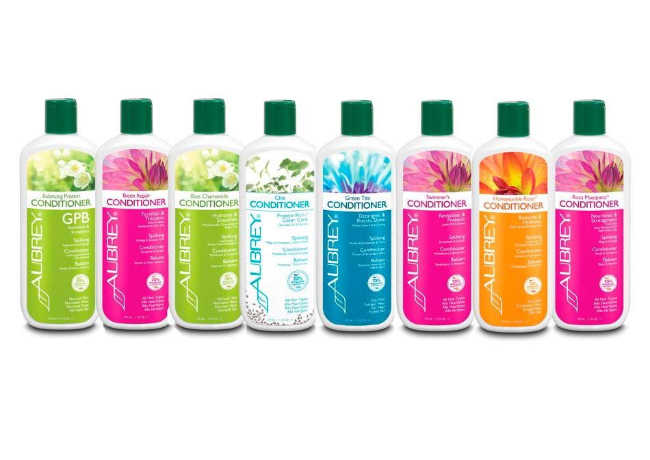 Aubrey-Organics luonnonmukaiset hiustenhoitoaineet kosteuttavat ja hoitavatr hiuksia tehden niistä sileät ja kauniin pehmeät